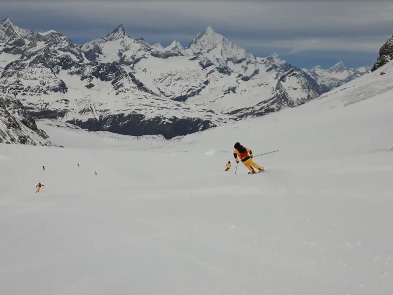 The North Face Gear Test - Zermatt ski slopes