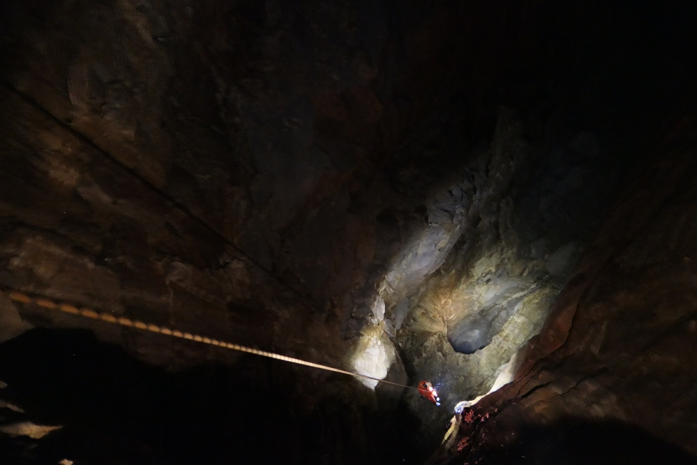 Outside Staff Blog Titan Caving trip - Mad abseiling down to the Event Horizon
