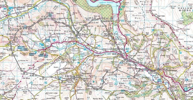 Hope Valley Skyline Running Route