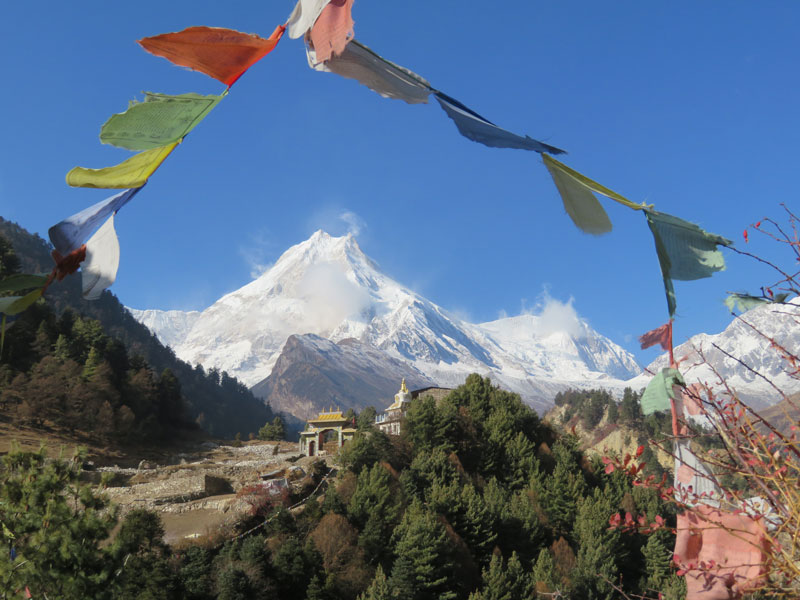 Manaslu from Lho Gompa - Outside Staff Blog