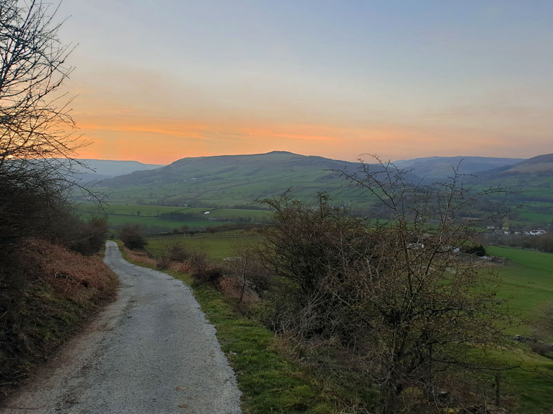 A stunning March sunset over Win Hill - The Hope Valley Skyline Outside Staff Blog
