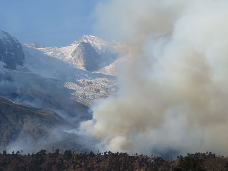 Fire on Manaslu - Outside Staff Blog