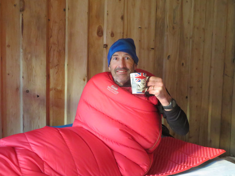 Tea in the bothy - Winter Trekking Manaslu - Outside Staff Blog