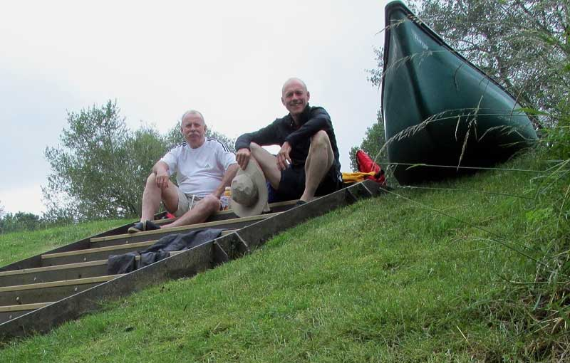Outside Staff Blog - Paddling in Scotland and Essex - Portage and lunch stop