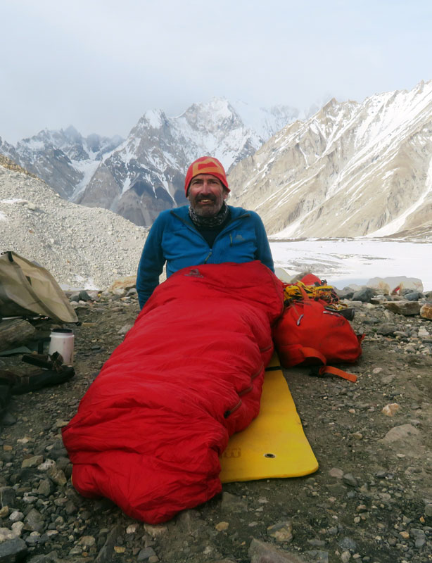 Outside Staff Blog | Karakoram Expedition | Peaks Passes and Glacier Glasses - Ali Camp bivvy the night before crossing the pass