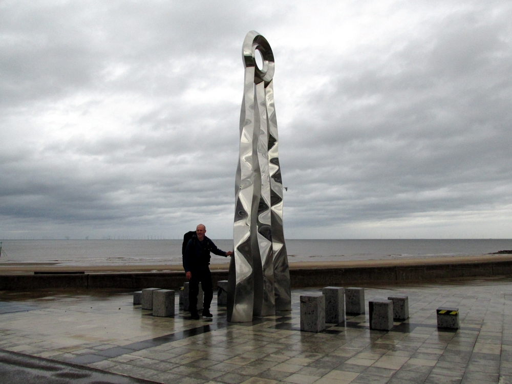 Outside Staff Blog | Walking Offa's Dyke in seven days | The finishing sculpture at Prestatyn
