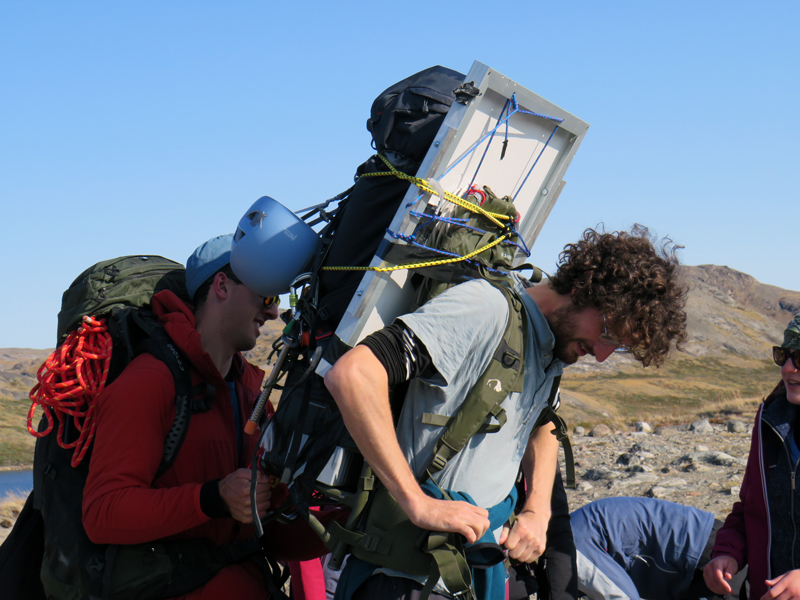 Greenland Expedition - Packing the GPS gear. Photo: Becky Hopkins