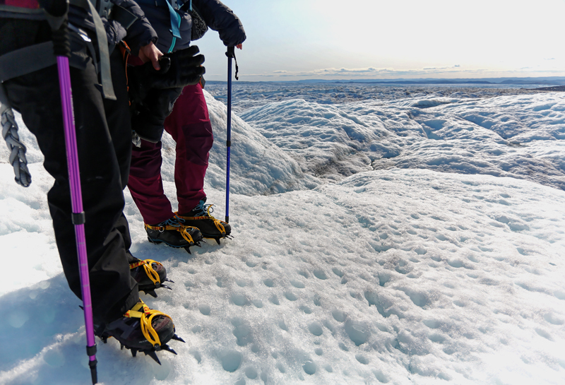 Greenland Expedition - Grivel crampons Photo: Andrew Sole