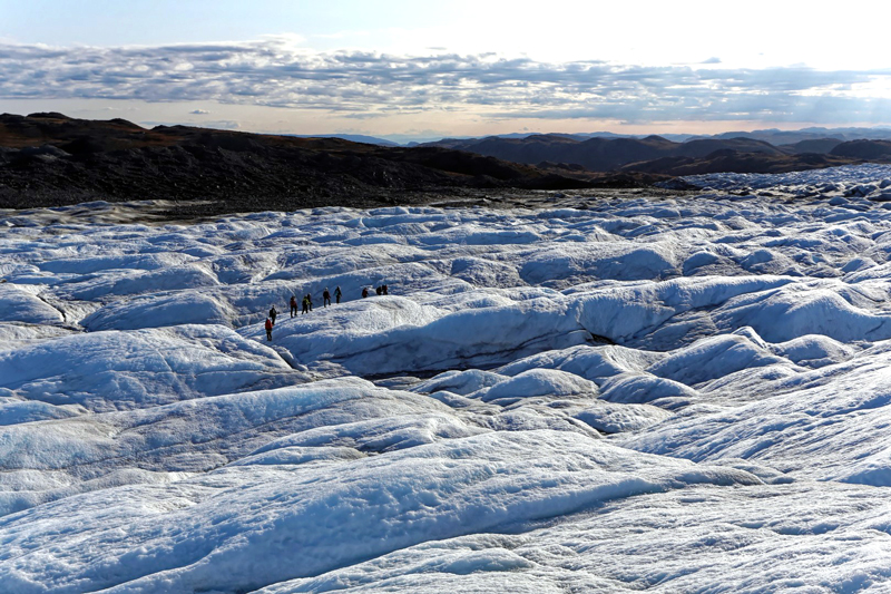 Greenland Expedition - Ice Dunes. Photo: Andrew Sole