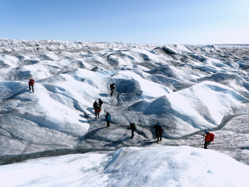 Greenland Expedition - Ice Dunes Photo: Stephen Livingstone