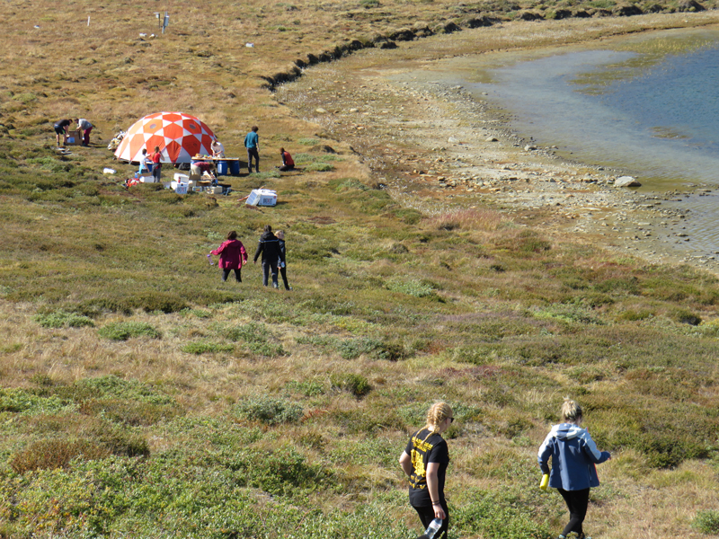 Greenland Expedition - Mess Tent. Photo: Becky Hopkins