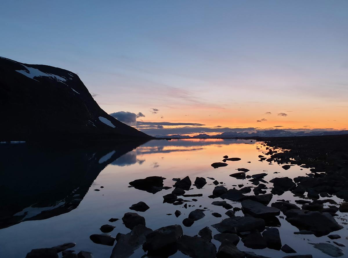 Outside Staff Blog - Fjallraven Bergtagen - Sunset at the camp