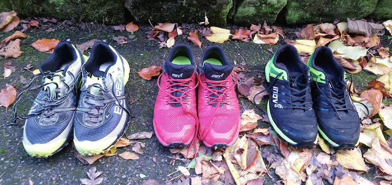 Dragons' back training shoes Boreal Saurus, Inov-8 Roclite & Inov-8 Mudclaw