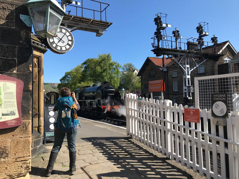Grosmont Steam Train Valley - the location of filming Heartbeat