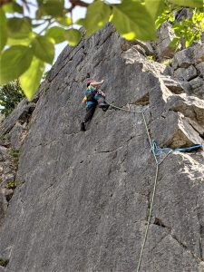 Outside Guest Blog | Trad Climbing with kids | Coral Sea (VS) - Trowbarrow