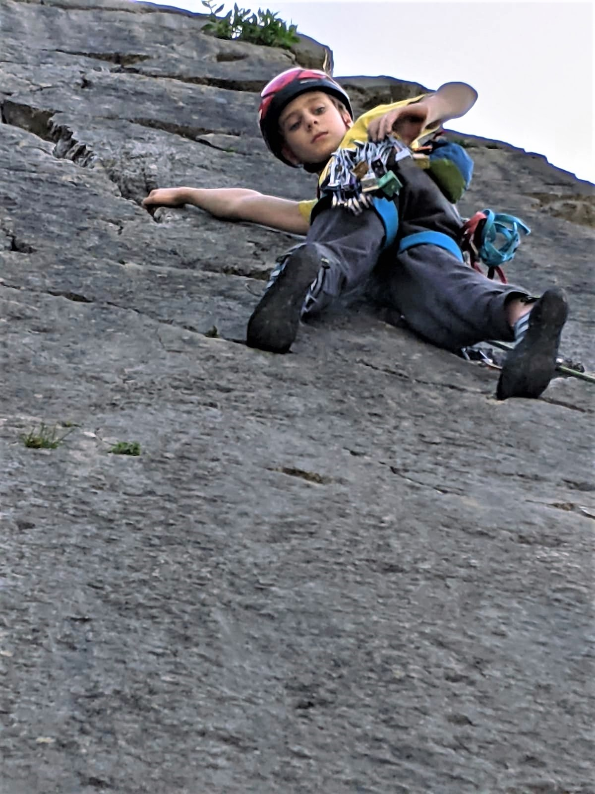 Outside Blog | Trad Climbing with kids | Coral Sea Trowbarrow