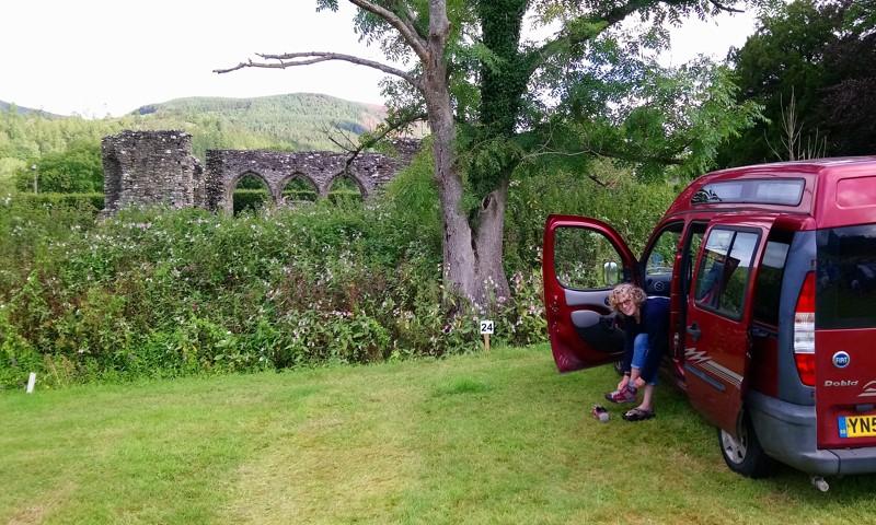 Dragon's Back - ultra running - Campsite Dolgellau with Cymer Abbey