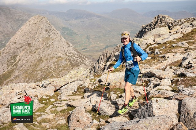 Outside staff blog | The Dragon's Back 2021 | On Glyder Fach with Tryfan in the background: photo ©James Kirby